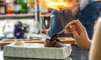 Chocolate Lava Cake with Vanilla & Lavender Ice Cream